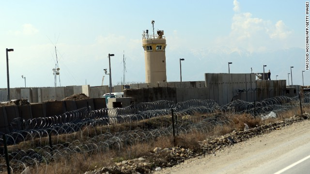 A general exterior view of Bagram Prison facilities is seen outside Kabul on March 25, 2012 in Afghanistan.