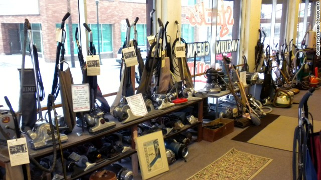 Take a look at the cleaning implements of yesteryear at Stark's Vacuum Cleaner Museum.