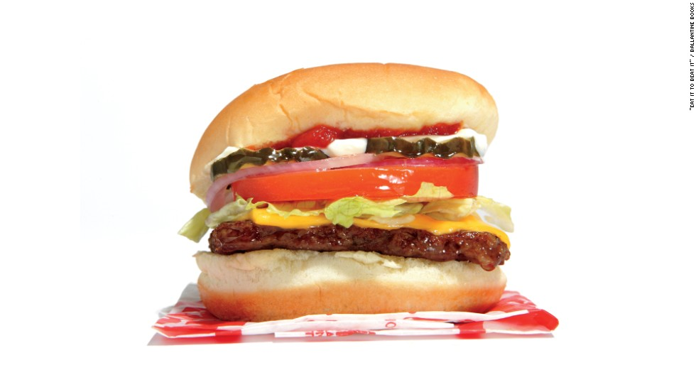 "<strong>Best restaurant burger:</strong> Wendy's junior cheeseburger deluxe has 350 calories, 19 grams fat, 830 milligrams sodium, 2 grams fiber, 7 grams sugar and 17 grams protein. Zinczenko says, ""Swapping out a Dave's Hot & Juicy with cheese for a junior cheeseburger deluxe will save you 770 calories and more than 1,000 milligrams of sodium, the latter of which will be good for your blood pressure!"""