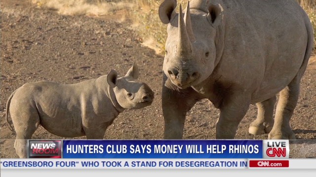 Rhino hunt draws praise, criticism