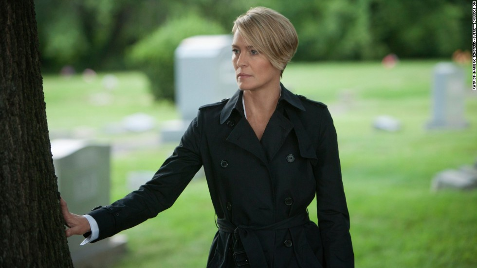 "<strong>Best actress in a TV series, drama: </strong>Robin Wright, ""House of Cards"""