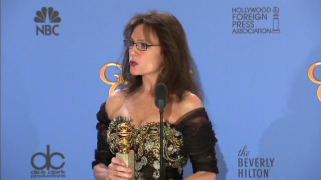 Bisset backstage at Golden Globes