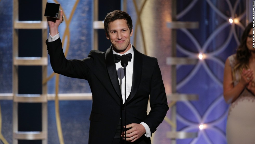 Actor and comedian Andy Samberg, seen here accepting a Golden Globe award, has been tapped to host the 2015 Emmys. It's his first time hosting a major award show. We wonder: Where will he rank among the best and worst Emmys hosts? Remember when...