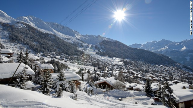 Verbier -- land of postcard views.
