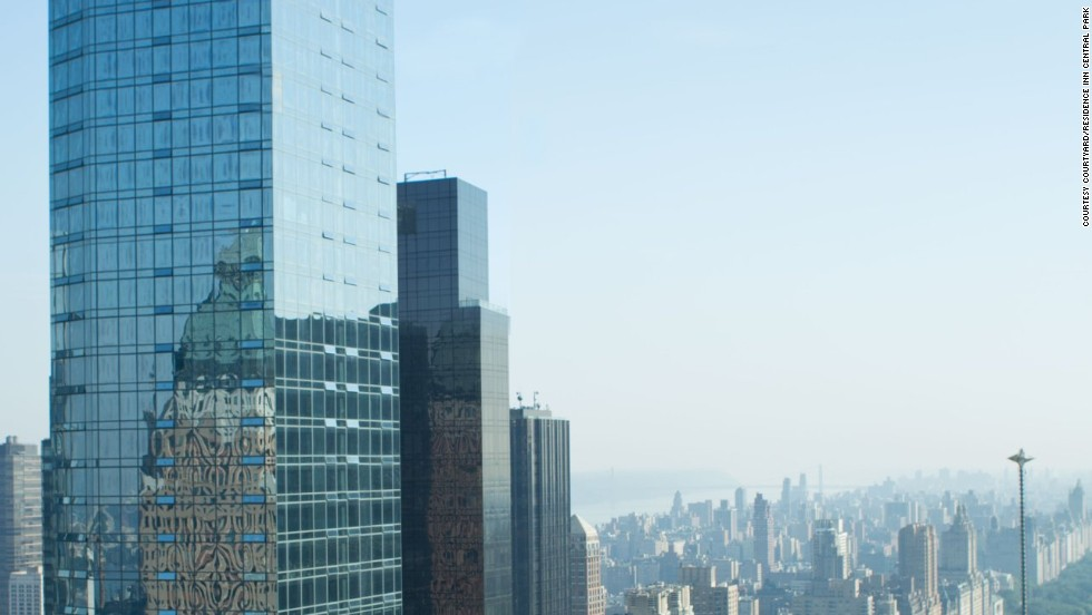 The Courtyard-Residence Inn Central Park opened December 29 in midtown Manhattan to become the tallest hotel property in North America.