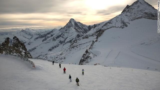 The Hintertux Glacier near Mayrhofen in the Zillertal Valley, Austria.