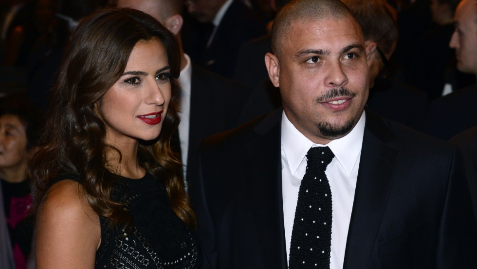 Another Brazilian -- three-time World Footballer of the Year -- Ronaldo was also in attendance, alongside girlfriend Paula Morais. The former forward now works on behalf of Brazil's 2014 World Cup committee.