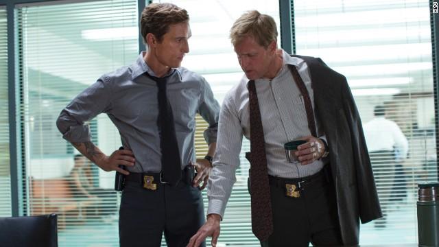 "Matthew McConaughey and Woody Harrelson star in ""True Detectives."""