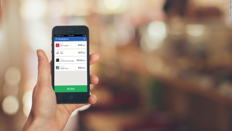 Snapscan is a mobile payments system that allows people to make payments with their mobile phone by simply taking a photo of a QR code and punching in the amount they want to pay.
