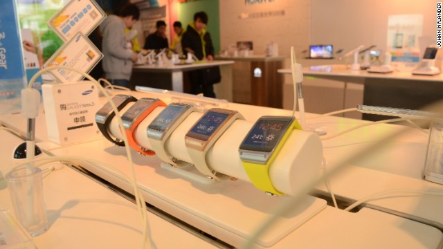 Samsung's smartwatch on display.
