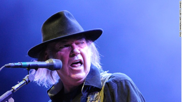 Rock and Roll Hall of Famer Neil Young doesn't agree with the Canadian government's claim that even rock stars use oil.