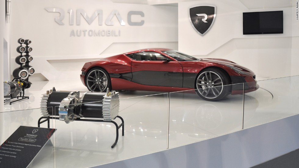 "Using four separate motors (one for each wheel) the car can reach 100 mph in just 2.8 seconds and eventually hit 190 mph. Creator Mate Rimac says <a href=""http://www.youtube.com/watch?v=4AHStDMhDvE#t=21"" target=""_blank"">electric motors can outperform petrol engines</a> -- environmental concerns don't even enter into it: ""It's a nice side effect,"" says Rimac, ""but the performance part of it, that's the reason why we did it."""