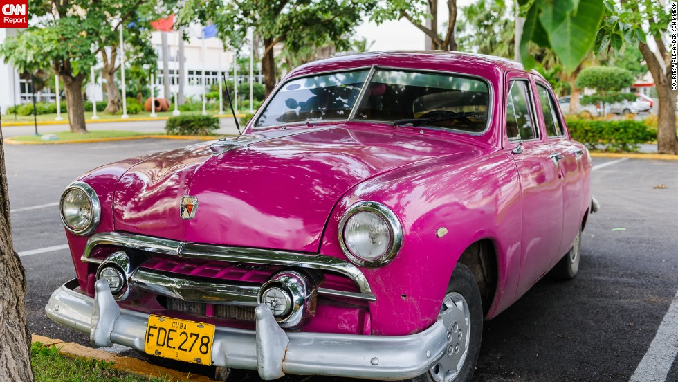 """This car was captured by German iReporter<a href=""""http://ireport.cnn.com/docs/DOC-1074105""""> Alexander Schimmeck</a> in December 2008 outside Cuba's car museum in old Havana."""