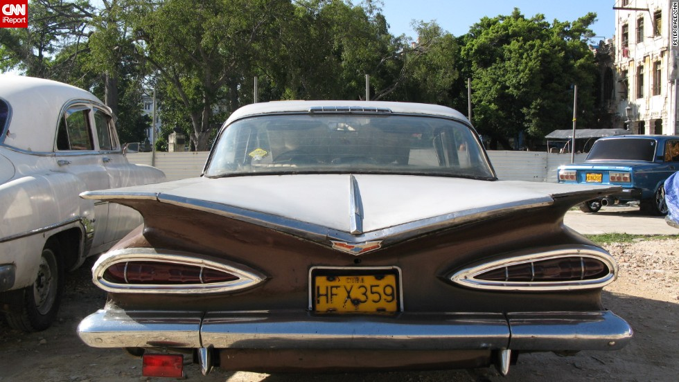 Peter Bale took this picture of a beautiful Chevrolet with lethal looking fins in Havana, Cuba, while on holiday in 2008.