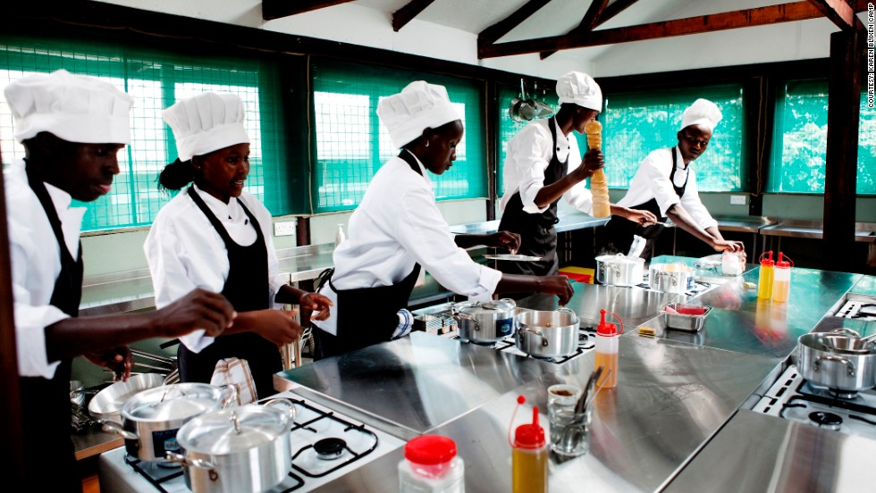 The Karen Blixen cooking school is an 18-month course run for Maasai youth hoping to train as chefs and work in the Maasai Mara region's vital tourism industry.