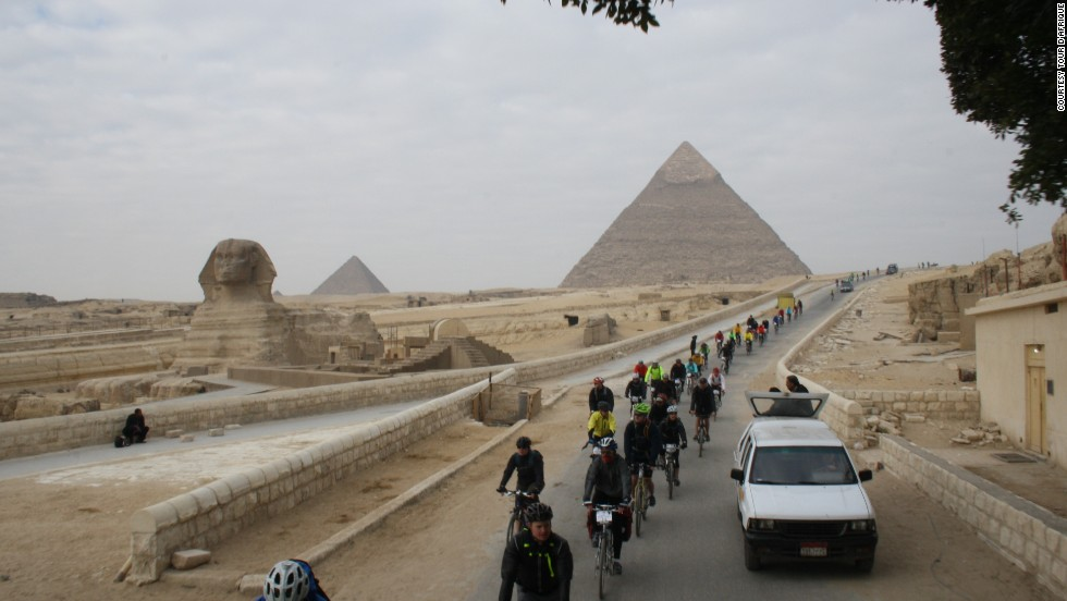 All previous Tour d'Afrique races have set out from Cairo, but this year the Egyptian capital was deemed too dangerous. (Pictured, 2013 Tour)