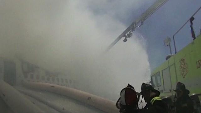 Asiana airlines crash fire fighter's helmet cam Earlystart _00005401.jpg