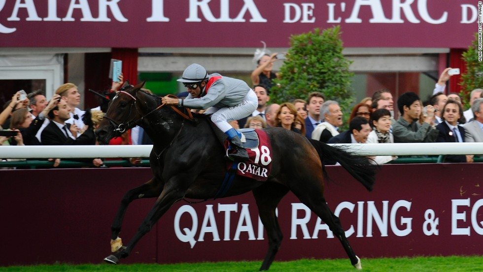 Winning double? Qatari-owned Treve wins the 2013 Prix de l'Arc de Triomphe at Longchamp, which will be sponsored by the Qatar Racing and Equestrian Club until 2022.