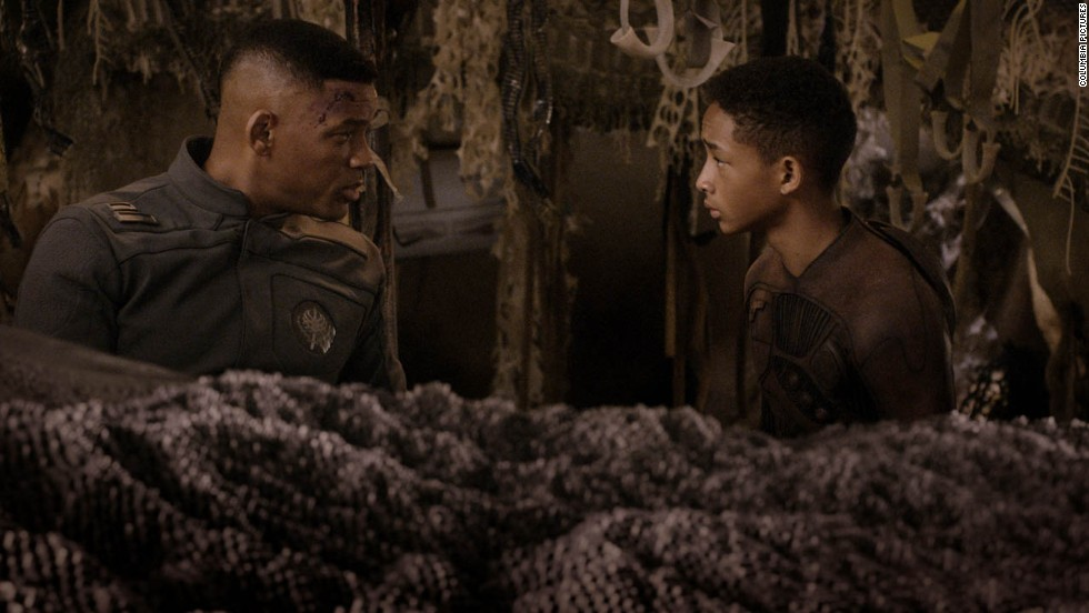 """After Earth"" picked up Razzie noms for worst picture, worst actor (Jaden Smith, right) and worst screen combo (Smith with father Will, left)."