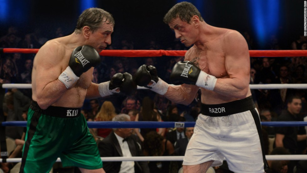 "Sylvester Stallone, right, has dominated the Razzies over the years. He has 31 nominations, including one for his most recent film, ""Grudge Match."""