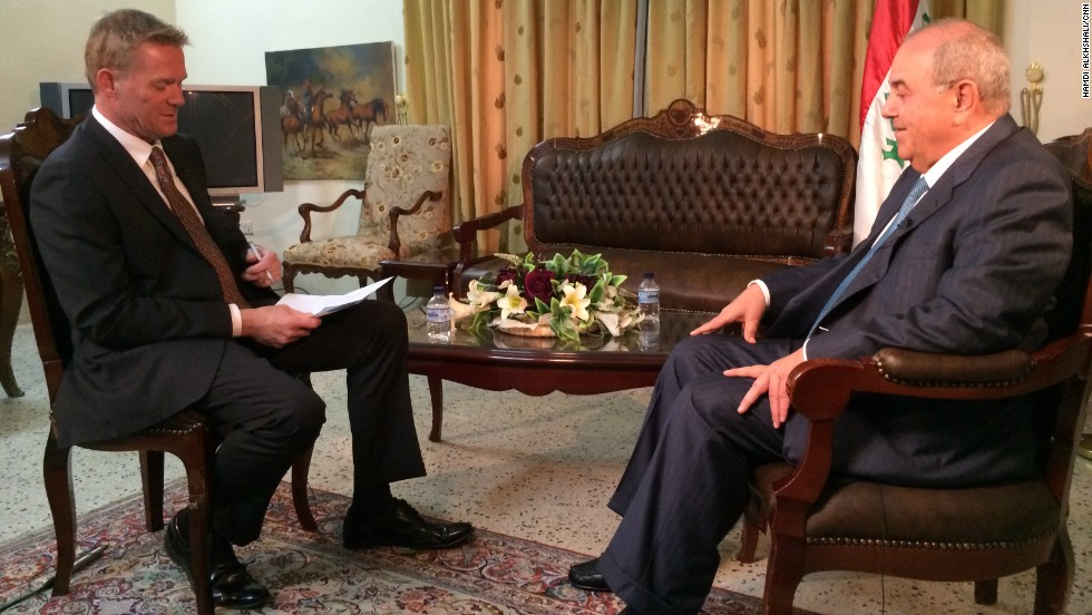 Former interim Prime Minister Ayad Allawi, seen here in an interview with Holmes, became Iraq's first head of government following the overthrow of the Saddam Hussein regime. Allawi spoke to CNN about the current government and the sectarian violence among ethnic and religious groups in Iraq.