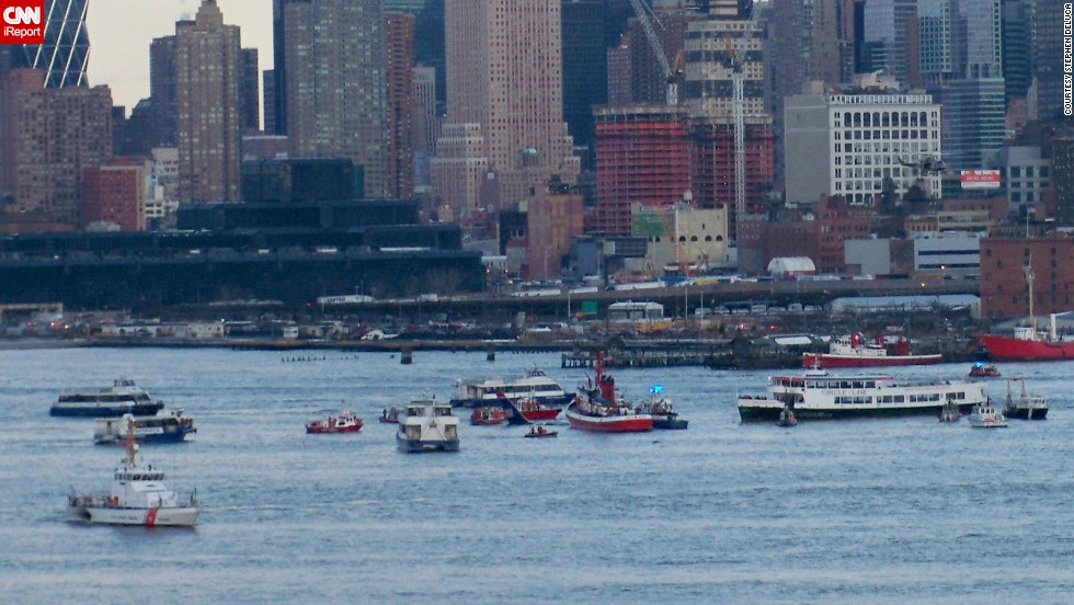 Here the plane started to sink a little in the waters of the Hudson River, says DeLuca.