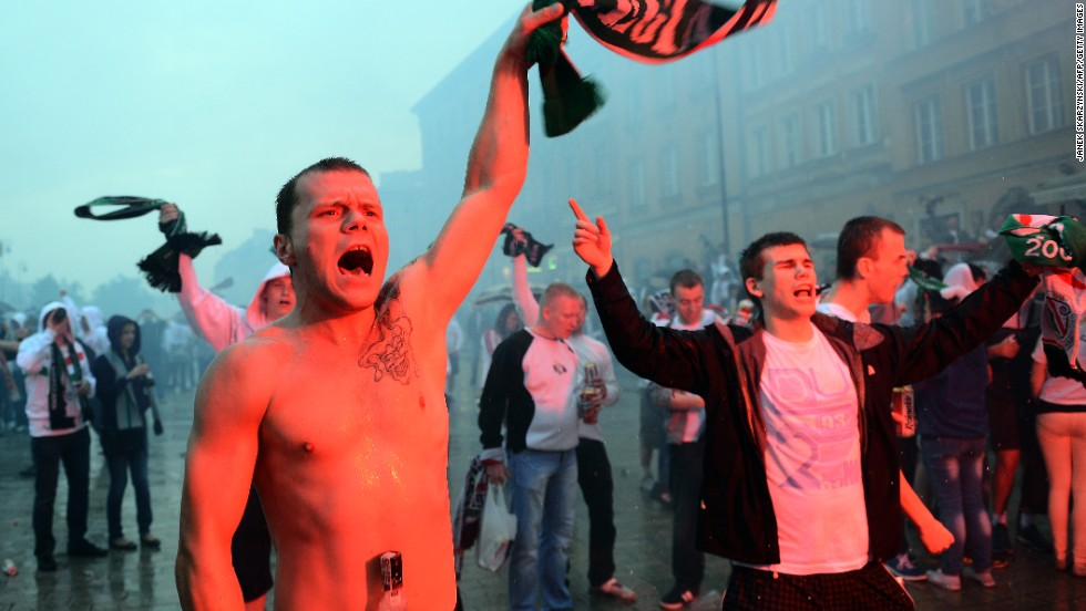 Legia Warsaw fans have been in trouble on countless occasions for racism and anti-Semitism, including at a home game against Israeli side Hapoel Tel Aviv in 2011.
