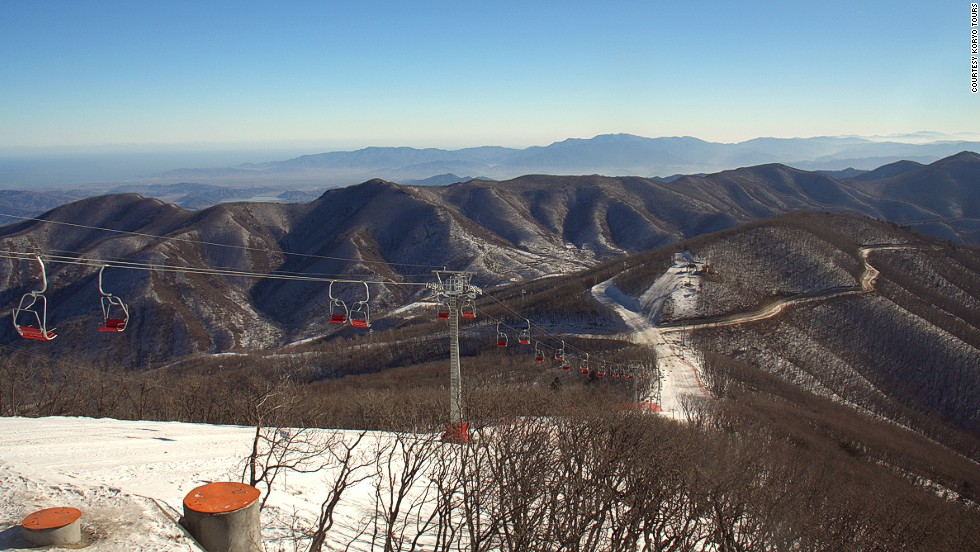 """The number of local Korean skiers here was also a great surprise, considering that prior to a fortnight ago there was just one ski slope in the country,"" wrote Cockerell."