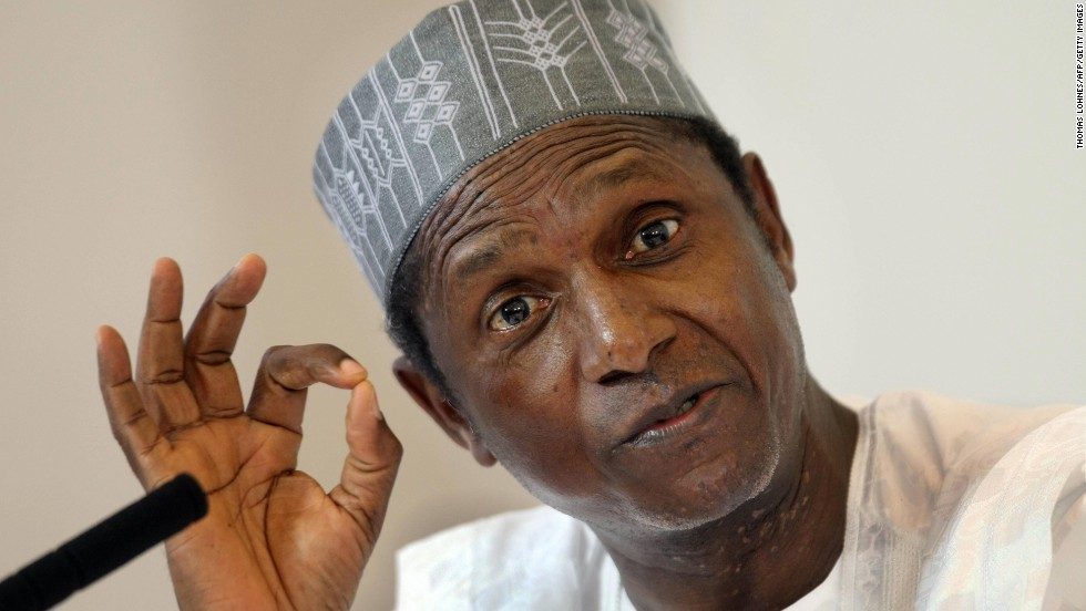 "Former Nigerian President Umaru Musa Yar'Adua <a href=""http://www.cnn.com/2009/WORLD/africa/11/27/nigeria.president/index.html"">went to Saudia Arabia</a> to be treated for inflammation of tissue around his heart in 2009. No further news came from him until almost two months later, when he gave the BBC an interview from his hospital bed. He died several months later."