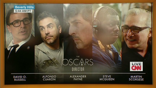 Oscar nominees for best director are ...