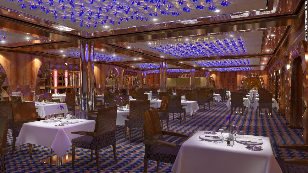 Diadema will be the largest and most modern ship built for Costa Cruises. It's set to launch in late 2014.