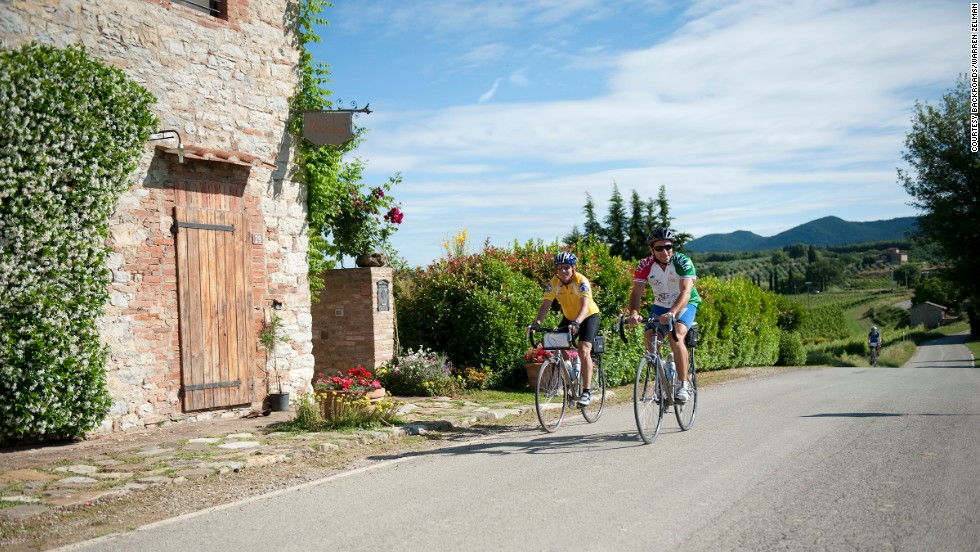 No cycling trip through Tuscany would be complete without wine tastings and loads of great snacks.