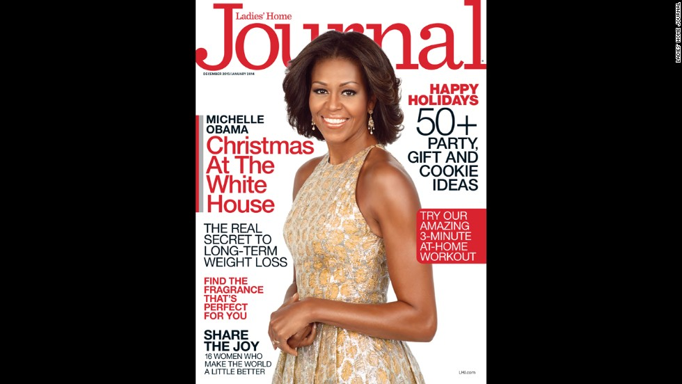 First lady Michelle Obama was featured on the cover of Ladies' Home Journal's December/January 2014 issue. See other magazines that have featured her on their cover.