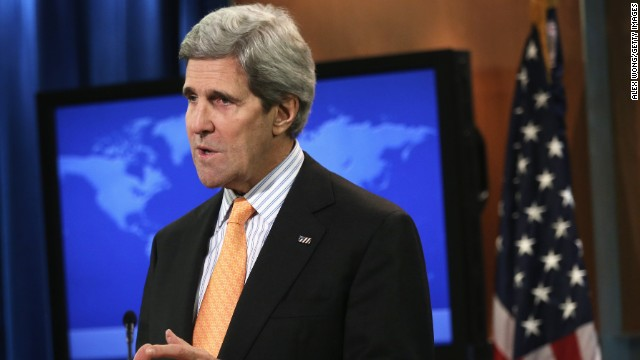 U.S. Secretary of State John Kerry makes a statement on Syria on January 16 in Washington, DC.