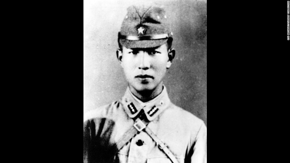 Onoda as a lieutenant during World War II.