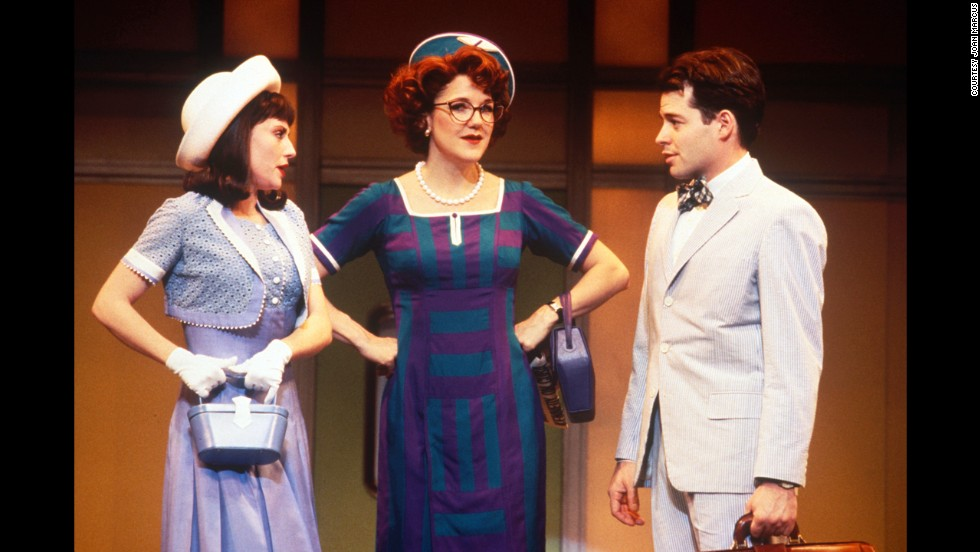 "Before assuming the famous role of Ferris Bueller, Matthew Broderick, right, began his acting career onstage. He won a Tony award in 1983 for playing Eugene Jerome in Neil Simon's ""Brighton Beach Memoirs."" He won his next Tony in 1995 for ""How to Succeed in Business Without Really Trying,"" in which he starred alongside Megan Mullally, left, and Victoria Clark."