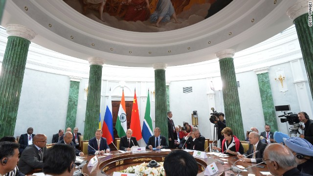 The meeting of the heads of BRICs delegations during the G20 summit on September 6, 2013 in St. Petersburg, Russia.