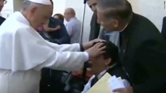 Does video show Pope doing exorcism?