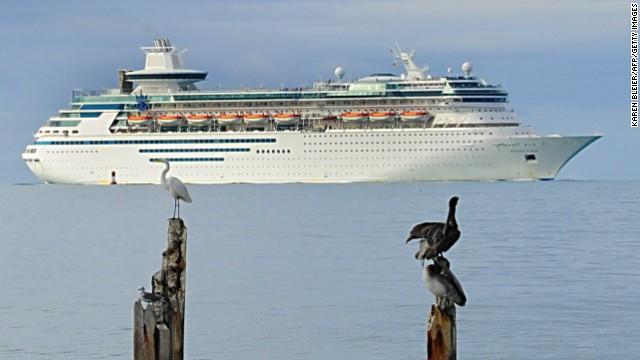 Royal Caribbean's Majesty of the Seas arrives November 26, 2009 in Key West, Florida. AFP PHOTO/Karen BLEIER (Photo credit should read KAREN BLEIER/AFP/Getty Images)