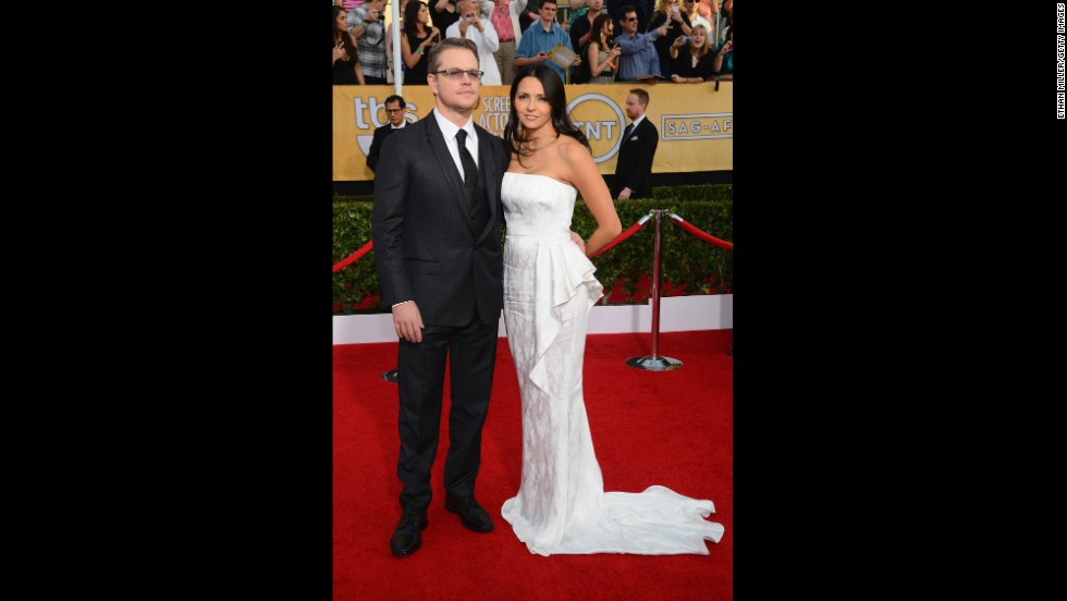 Matt Damon and his wife, Luciana
