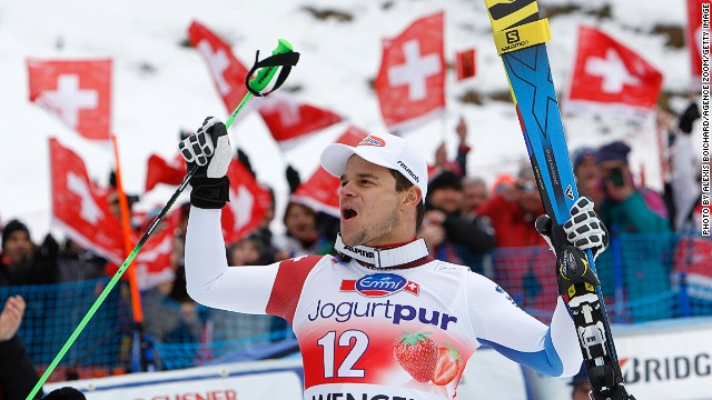 Patrick Kueng of Switzerland has his sights set on his first Winter Olympics in Sochi.