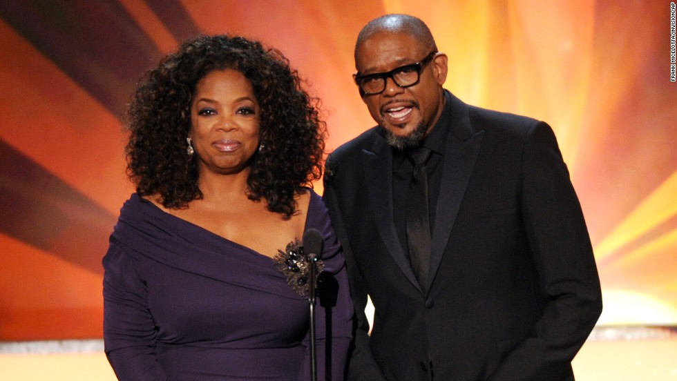 "Oprah Winfrey and Forest Whitaker present a clip from their film ""Lee Daniels' The Butler."" It was nominated for outstanding performance by a cast in a motion picture."