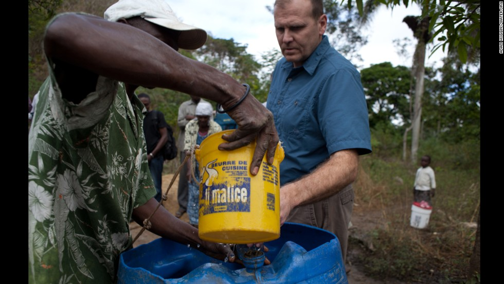 Gary White visits a community in need of safe water near Pigñon, Haiti.