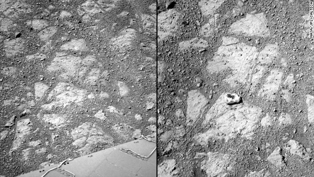 Spotted: Mystery rock on Mars