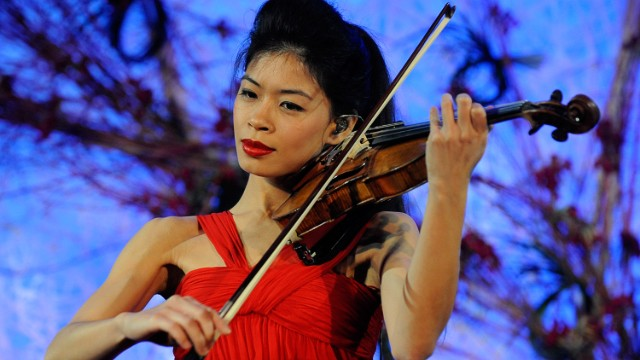 Vanessa Mae says she first skied at the age of four, a year before she started to learn the violin.