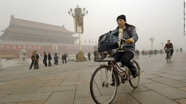 Bikers in Beijing have gotten used to the smog. That doesn't mean they like it.