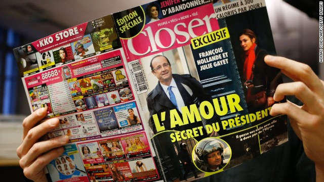 The French magazine Closer exposed President Francois Hollande's affair with actress Julie Gayet.