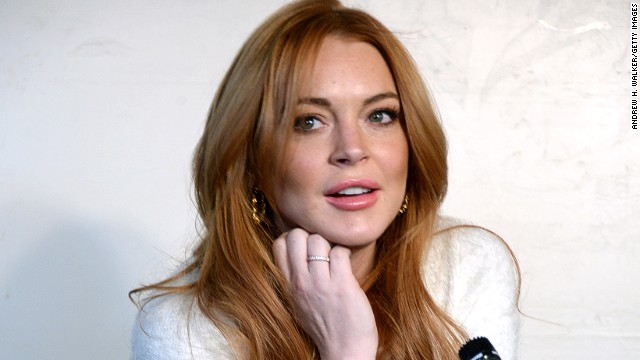 Lindsay Lohan appears at the Sundance Film Festival in January 2014.