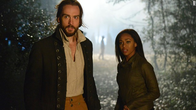 "Tom Mison (left) and Nicole Beharie star in Fox's ""Sleepy Hollow."""