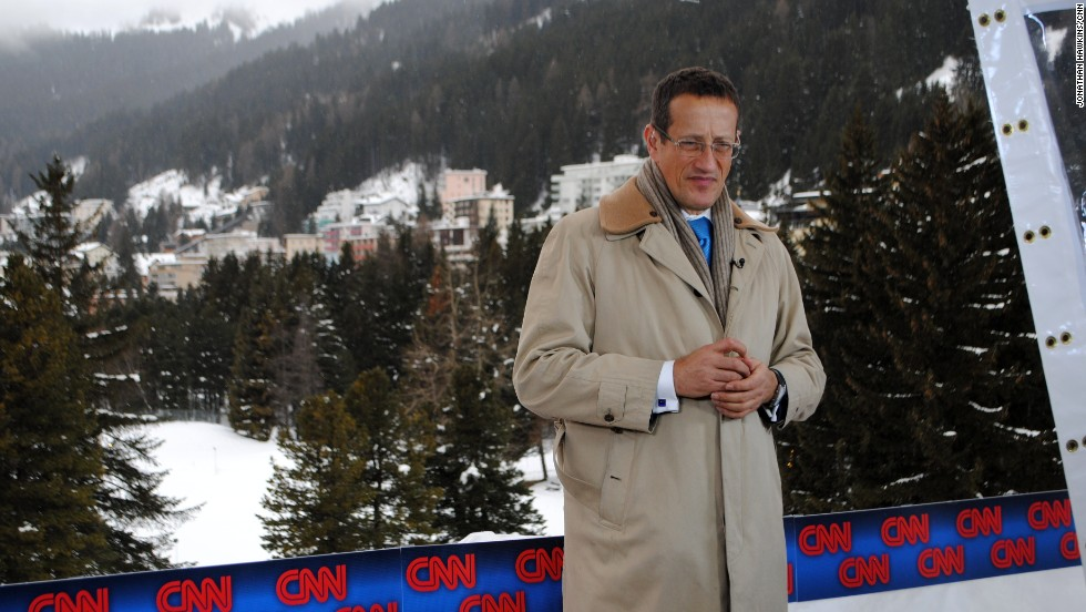 CNN's Richard Quest is anchoring coverage out of Davos. He is fronting Quest Means Business at 1600ET from CNN's live position in the town's congress center.